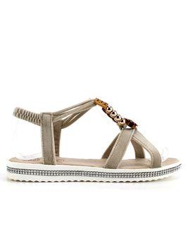 Distanc sandále OS852157011 béžová