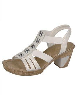 Rieker sandále QR852132010 biela