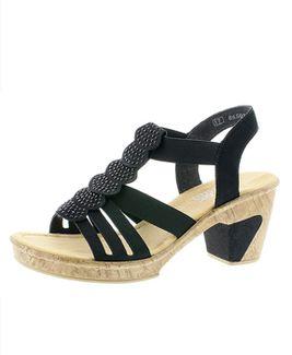 Rieker sandále QR852133060 Čierna