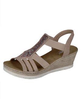 Rieker sandále QR852134011 béžová
