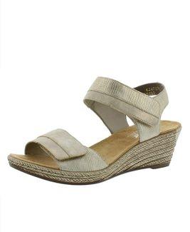Rieker sandále QR852135005 zlatá