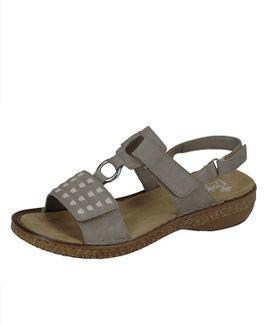 Rieker sandále QR852141009 sivá