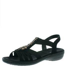 Rieker sandále QR852142060 sivá