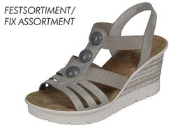 Rieker sandále QR752022011 béžová