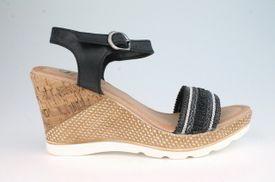 John Garfield sandále TC752193060 Čierna