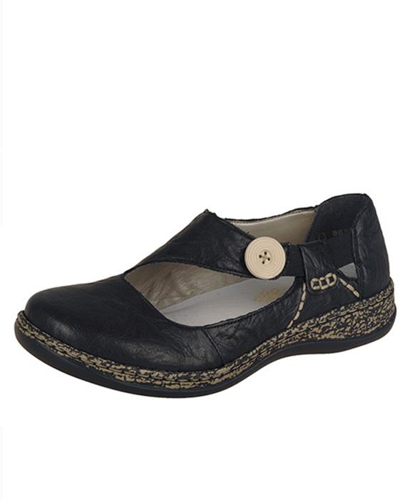 0d7c882638 Rieker obuv QR352579060 Čierna - JohnGarfield.sk