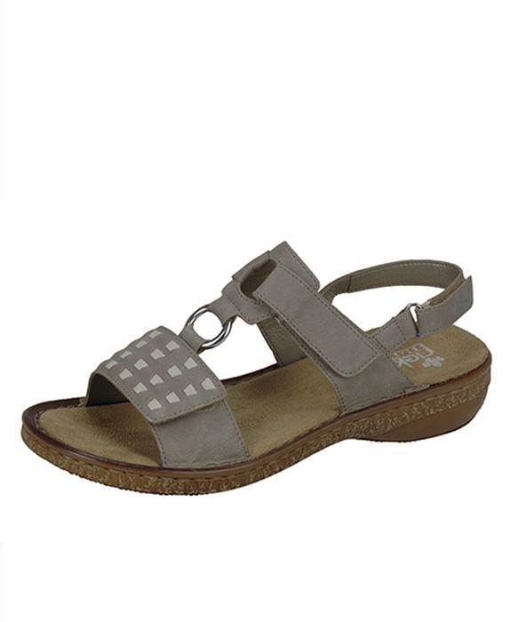 Rieker sandále QR852141009 sivá - JohnGarfield.sk 3a5f1f35a89
